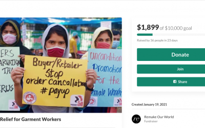 Garment Worker Direct Relief Fund Launches to Raise Money for Women Impacted by the Pandemic