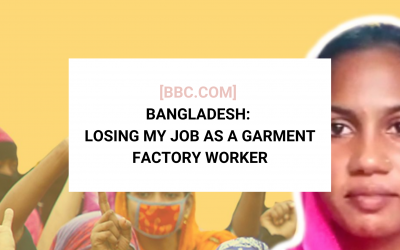 [BBC News] Bangladesh's Garment Workers Say They Can't Buy Groceries After Order Cancellations