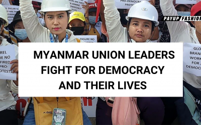 Myanmar Women Union Leaders Speak Out at PayUp Fashion Press Conference